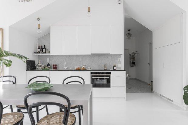 Фотография:  в стиле , Скандинавский, Современный, Декор интерьера, Квартира, Белый, Зеленый, Бежевый, 40-60 метров – фото на INMYROOM