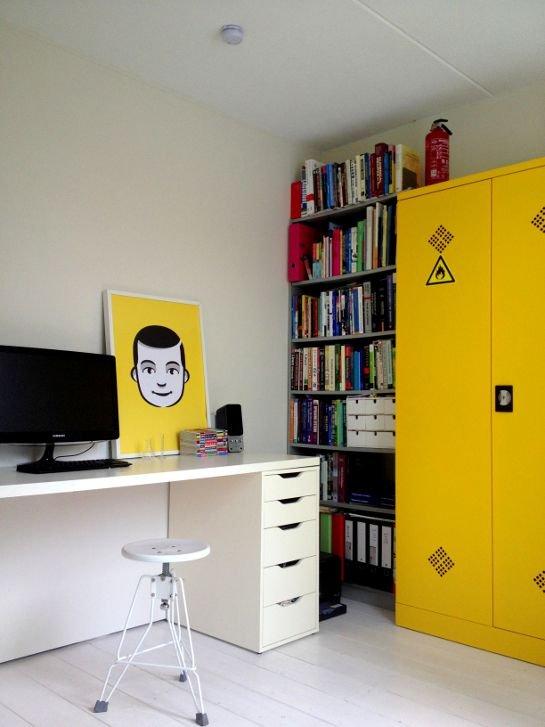 Фотография: Офис в стиле Лофт, Декор интерьера, Дизайн интерьера, Цвет в интерьере, Желтый – фото на INMYROOM