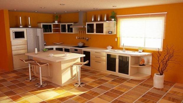 Фотография: Гостиная в стиле Классический, Современный, Кухня и столовая, Декор интерьера, Квартира, Дом, Декор, Оранжевый – фото на INMYROOM