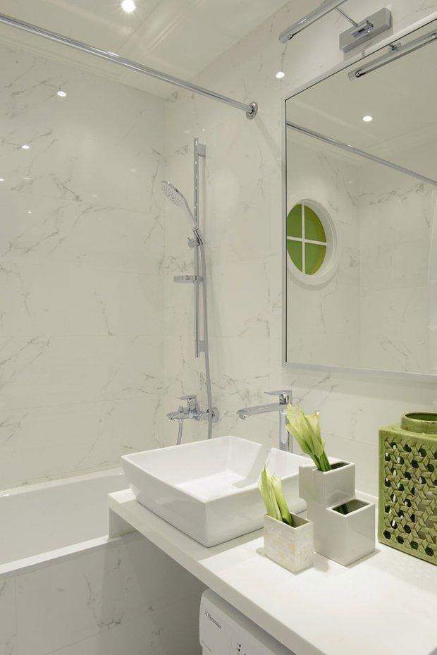Фотография: Ванная в стиле Скандинавский, Современный, Квартира, Проект недели – фото на INMYROOM