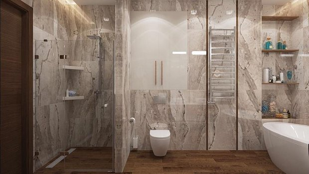 Фотография: Ванная в стиле Современный, Советы, Перепланировка, Марина Лаптева – фото на INMYROOM