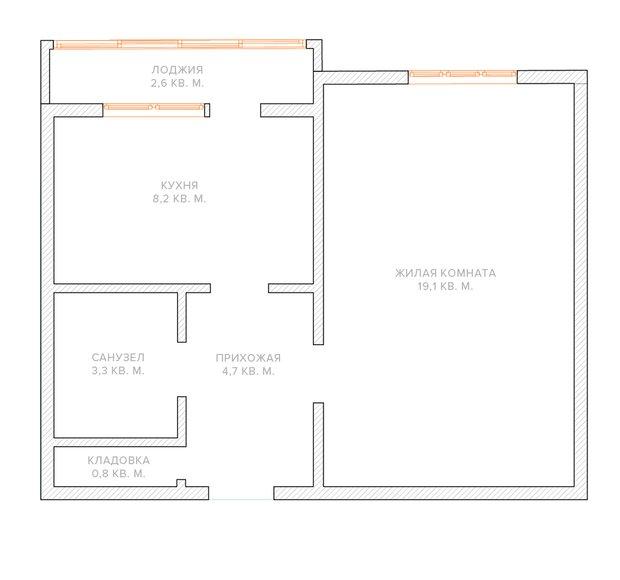 Фотография: Планировки в стиле , Малогабаритная квартира, Квартира, Перепланировка, П-43, Панельный дом, 1 комната, до 40 метров – фото на INMYROOM