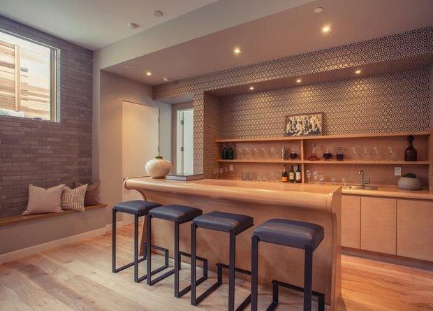 Фотография: Планировки в стиле , Кухня и столовая, Гостиная, Декор интерьера, Квартира, Студия, Дом, барная стойка на кухне, кухня-гостиная с барной стойкой – фото на INMYROOM