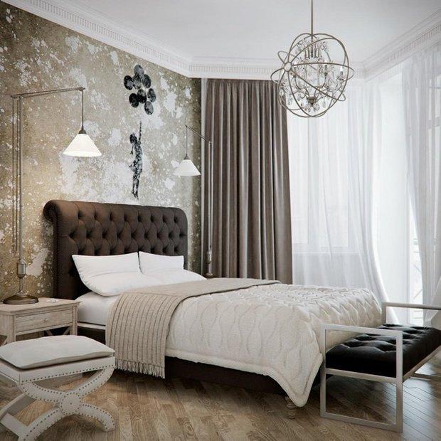 Фотография: Спальня в стиле Прованс и Кантри, Эклектика, Интерьер комнат, Кровать, Гардероб, Комод, Пуф, Табурет – фото на INMYROOM