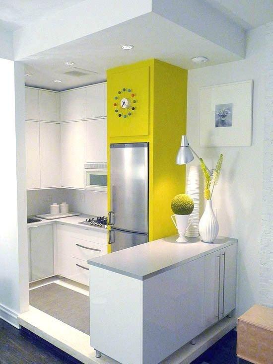 Фотография: Кухня и столовая в стиле Современный, Декор интерьера, Дизайн интерьера, Цвет в интерьере, Желтый – фото на INMYROOM