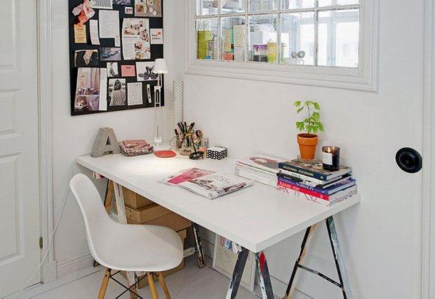 Фотография: Офис в стиле Скандинавский, Прованс и Кантри, Малогабаритная квартира, Квартира, Дома и квартиры, Стокгольм – фото на INMYROOM