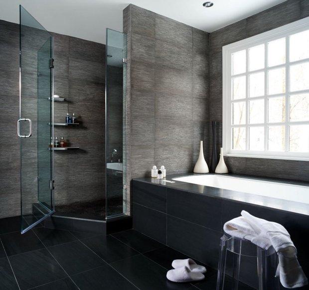 Фотография: Ванная в стиле Лофт, Восточный, Интерьер комнат, Декоративная штукатурка – фото на INMYROOM