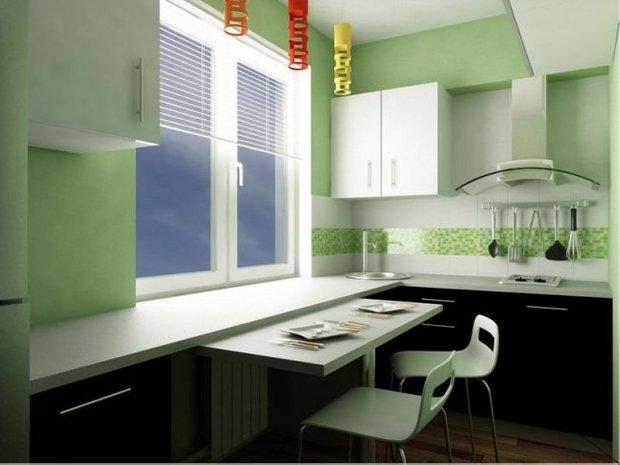 Фотография: Кухня и столовая в стиле Современный, Малогабаритная квартира, Интерьер комнат, Советы – фото на INMYROOM