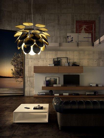 Фотография: Гостиная в стиле Лофт, Современный, Декор интерьера, Marset, Мебель и свет, Светильник – фото на InMyRoom.ru
