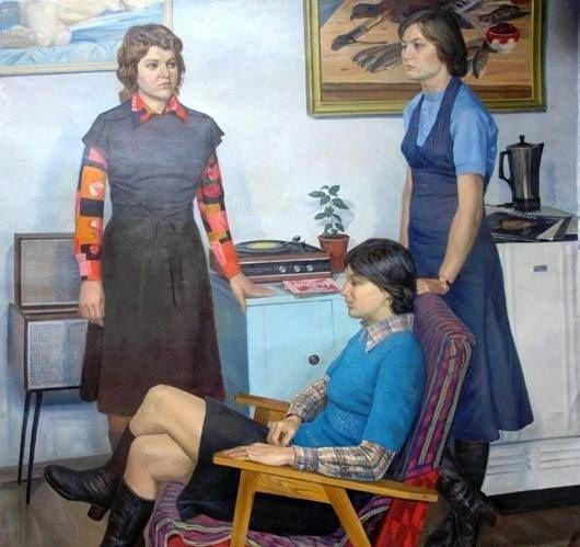 Невзгодин Анатолий Никифорович (Россия, 1932) «Подруги» 1977