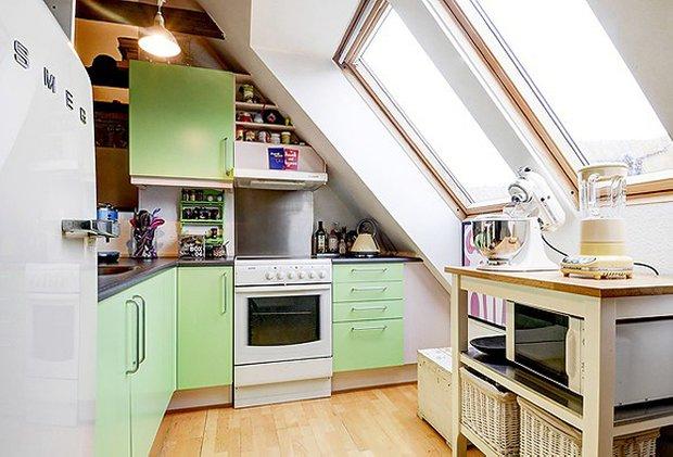 Фотография: Кухня и столовая в стиле Прованс и Кантри, Скандинавский, Малогабаритная квартира, Квартира, Швеция, Дома и квартиры – фото на INMYROOM