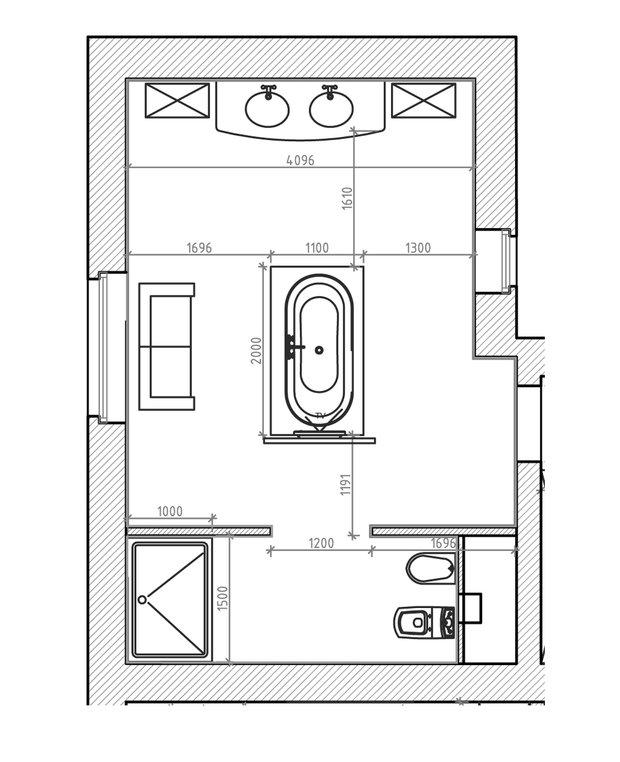 Фотография: Ванная в стиле Современный, Хай-тек, Классический, Квартира, Проект недели, Бежевый, Коричневый – фото на INMYROOM
