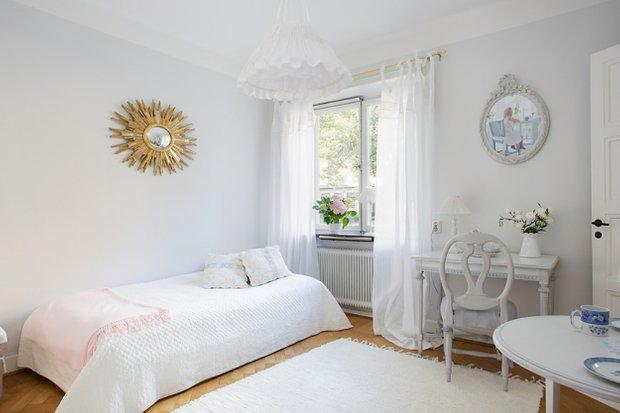 Фотография: Спальня в стиле Скандинавский, Малогабаритная квартира, Квартира, Дома и квартиры, Стокгольм – фото на INMYROOM