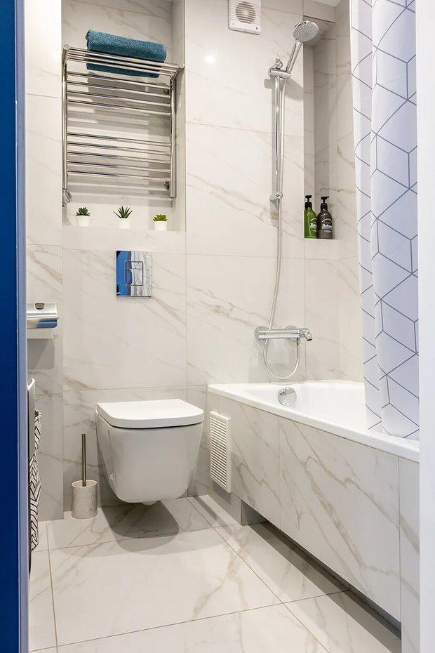 Фотография: Ванная в стиле Современный, Малогабаритная квартира, Квартира, Советы, Проект недели, Buro Brainstorm, 1 комната, до 40 метров – фото на INMYROOM