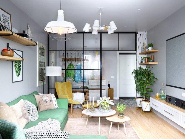 Фотография: Гостиная в стиле Скандинавский, Гид, маленькая гостиная – фото на INMYROOM