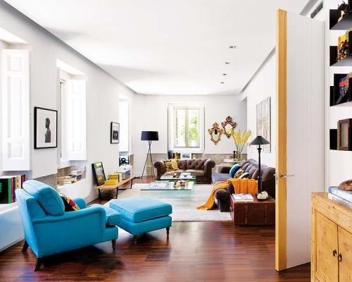 Фотография: Гостиная в стиле Прованс и Кантри, Эклектика, Декор интерьера, Дом, Антиквариат, Дома и квартиры, Стена, Мадрид – фото на INMYROOM