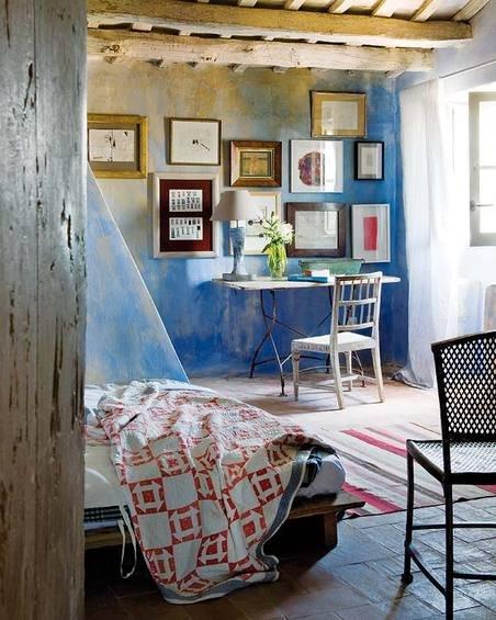 Фотография: Спальня в стиле Прованс и Кантри, Дом, Испания, Дома и квартиры, Современное искусство – фото на INMYROOM