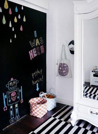 Фотография: Детская в стиле Скандинавский, Декор интерьера, DIY, Декор, грифельная краска, графитовая краска, краска для школьных досок в интерьере, грифельная краска с эффектом школьной доски – фото на INMYROOM