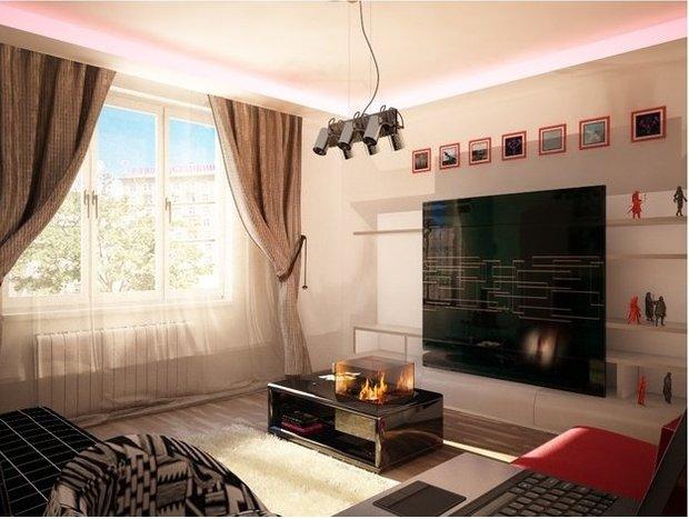 Фотография: Гостиная в стиле Современный, Малогабаритная квартира, Квартира, Дома и квартиры, Мебель-трансформер – фото на INMYROOM