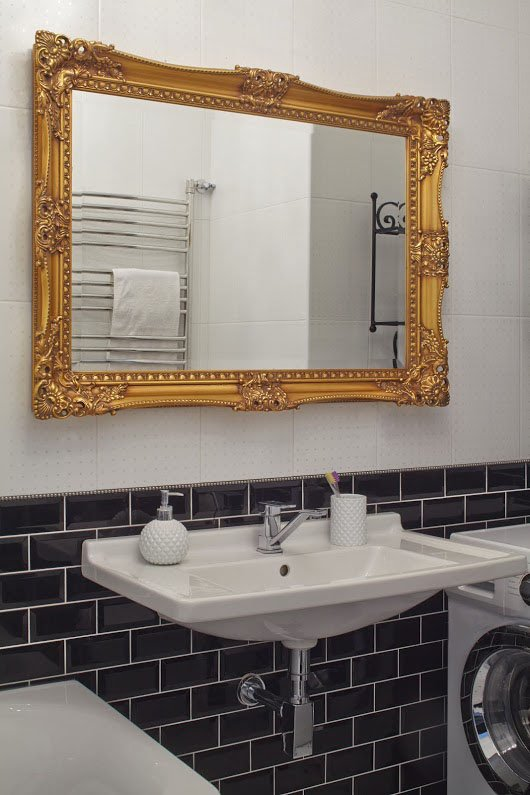 Фотография: Ванная в стиле Скандинавский, Квартира, Цвет в интерьере, Дома и квартиры, Перепланировка, Серый – фото на INMYROOM