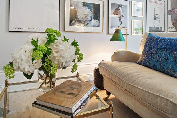 Фотография: Гостиная в стиле Скандинавский, Малогабаритная квартира, Квартира, Швеция, Дома и квартиры – фото на InMyRoom.ru
