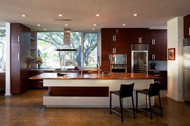 Фотография: Кухня и столовая в стиле Скандинавский, Современный, Гостиная, Декор интерьера, Квартира, Студия, Дом, барная стойка на кухне, кухня-гостиная с барной стойкой – фото на INMYROOM