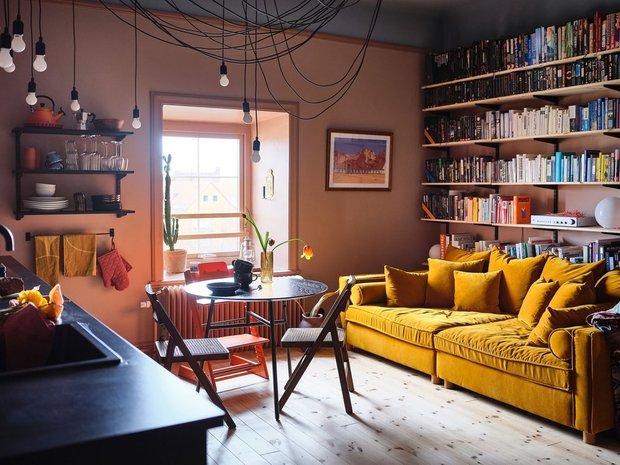 Фотография:  в стиле , Скандинавский, Эклектика, Декор интерьера, Швеция, Желтый, Стокгольм, Розовый – фото на INMYROOM