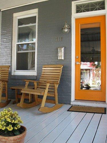 Фотография: Балкон, Терраса в стиле Прованс и Кантри, Современный, Декор интерьера, Дизайн интерьера, Цвет в интерьере, Оранжевый – фото на INMYROOM