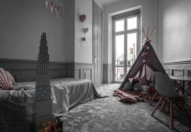 Фотография: Детская в стиле Скандинавский, Классический, Декор интерьера, Швеция, Бежевый, Стокгольм, Серый, 3 комнаты, 60-90 метров – фото на INMYROOM
