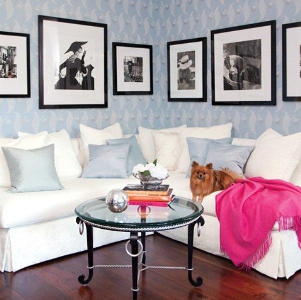 Фотография: Гостиная в стиле Современный, Эклектика, Дом, Дома и квартиры, Интерьеры звезд – фото на INMYROOM