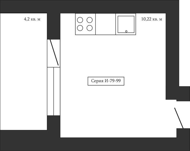 Фотография: Спальня в стиле Классический, Кухня и столовая, Перепланировка, Анастасия Киселева, Максим Джураев, И-79-99 – фото на INMYROOM