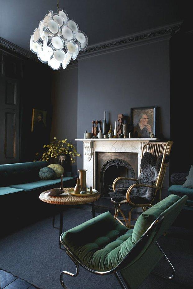 Фотография: Гостиная в стиле , Декор интерьера, Дизайн интерьера, Цвет в интерьере – фото на INMYROOM