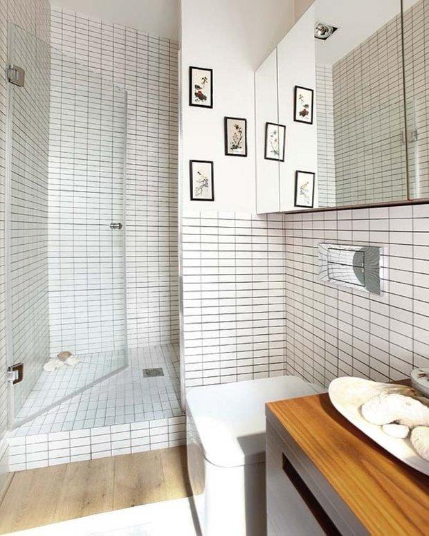 Фотография: Ванная в стиле Лофт, Малогабаритная квартира, Интерьер комнат, Советы – фото на INMYROOM
