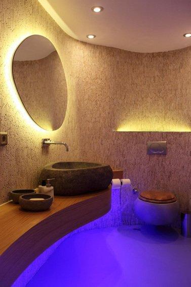 Фотография: Ванная в стиле Эко, Декор интерьера, Мебель и свет, Светильник – фото на InMyRoom.ru