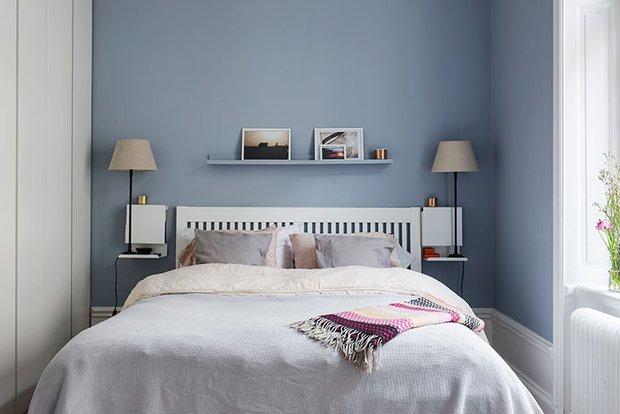 Фотография: Спальня в стиле Скандинавский, Декор интерьера, Квартира, Швеция, 3 комнаты, 60-90 метров – фото на INMYROOM