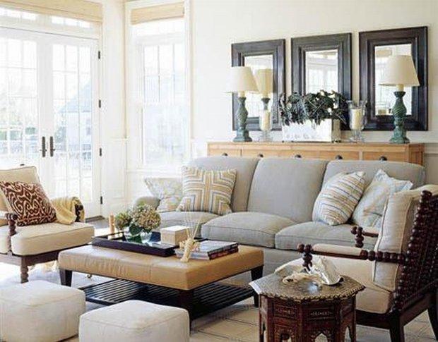 Фотография: Гостиная в стиле Скандинавский, Декор интерьера, Декор дома, Зеркала – фото на INMYROOM