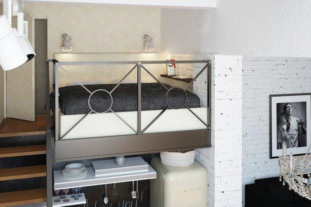 Фотография: Спальня в стиле Лофт, Квартира, Дома и квартиры, IKEA, Проект недели – фото на INMYROOM