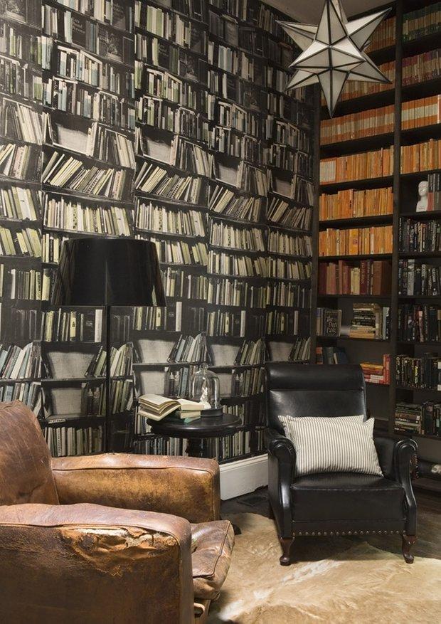 Фотография:  в стиле Прованс и Кантри, Классический, Современный, Системы хранения, Библиотека, Домашняя библиотека – фото на INMYROOM