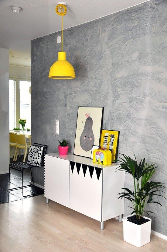 Фотография: Гостиная в стиле Лофт, Современный, Декор интерьера, Аксессуары, Декор, Белый, Черный, Желтый, Серый, Бирюзовый – фото на INMYROOM