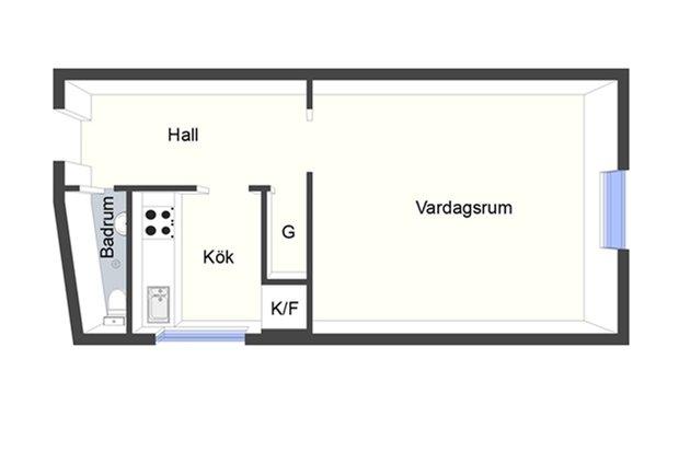 Фотография: Планировки в стиле , Скандинавский, Малогабаритная квартира, Квартира, Дома и квартиры, Стокгольм – фото на INMYROOM