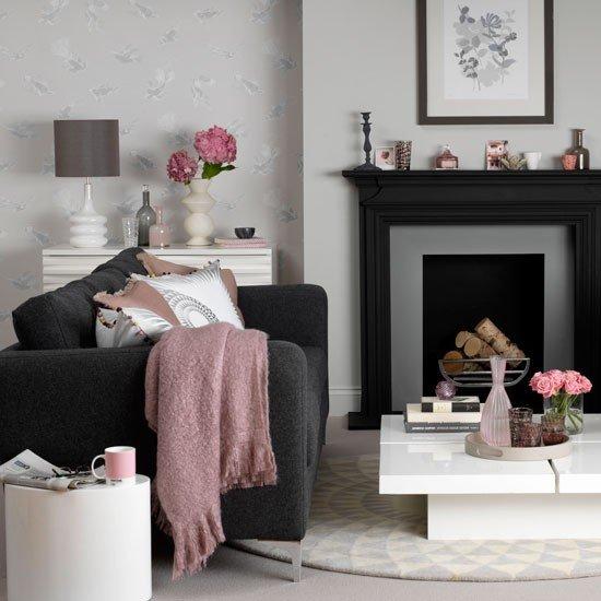 Фотография: Гостиная в стиле Прованс и Кантри, Декор интерьера, Дизайн интерьера, Цвет в интерьере, Черный – фото на INMYROOM