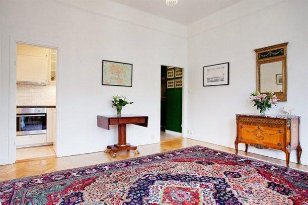 Фотография: Гостиная в стиле Скандинавский, Классический, Малогабаритная квартира, Квартира, Дома и квартиры, Стокгольм – фото на INMYROOM