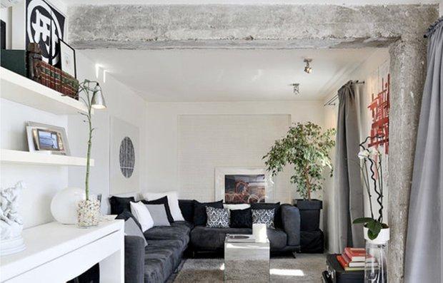 Фотография: Гостиная в стиле Современный, Дизайн интерьера, Цвет в интерьере – фото на INMYROOM