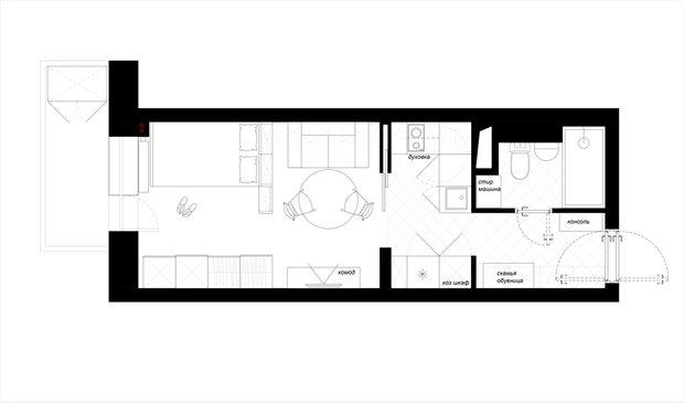Фотография: Прочее в стиле , Скандинавский, Малогабаритная квартира, Квартира, Дома и квартиры, Проект недели – фото на INMYROOM