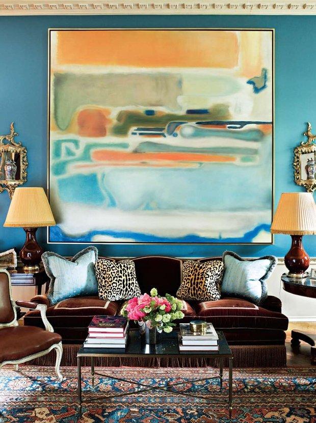Фотография: Гостиная в стиле Прованс и Кантри, Декор интерьера, Декор, абстрактная живописть в интерьере, абстрактное искусство в интерьере – фото на InMyRoom.ru