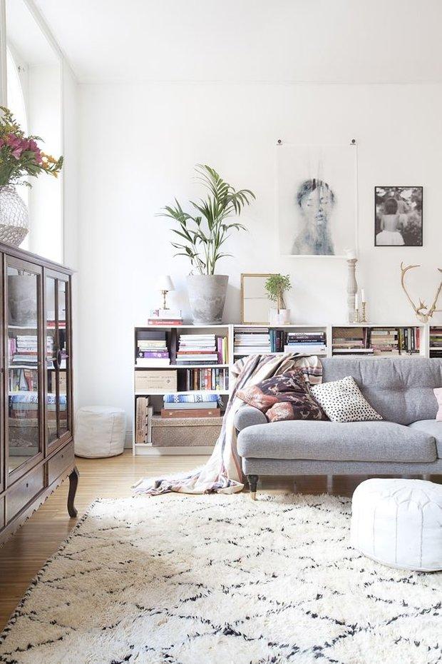 Фотография: Гостиная в стиле Скандинавский, Малогабаритная квартира, Квартира, Флористика, Стиль жизни, Зимний сад – фото на INMYROOM