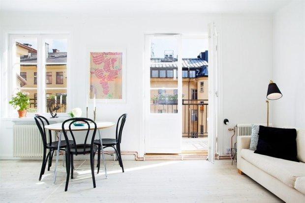 Фотография: Гостиная в стиле Скандинавский, Лофт, Малогабаритная квартира, Квартира, Дома и квартиры – фото на INMYROOM