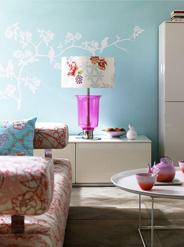 Фотография: Гостиная в стиле Современный, Декор интерьера, Дизайн интерьера, Цвет в интерьере, Белый, Серый, Бирюзовый – фото на INMYROOM
