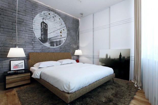 Фотография: Спальня в стиле Скандинавский, Прованс и Кантри, Лофт, Декор, Советы, Ремонт на практике, кирпич в интерьере, покраска кирпичной стены, кирпичная стена, кирпичная стена в интерьере, краска для кирпичной стены – фото на INMYROOM