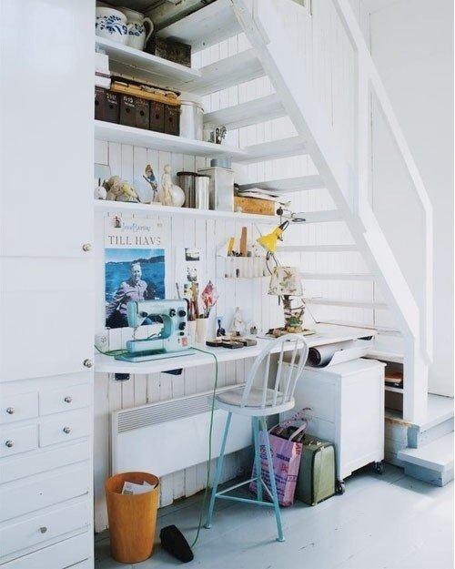 Фотография: Спальня в стиле Прованс и Кантри, Советы, Гид, Дом и дача, ниша под лестницей – фото на INMYROOM